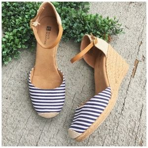 White Mountain Mamba Espadrille Wedge Sandals